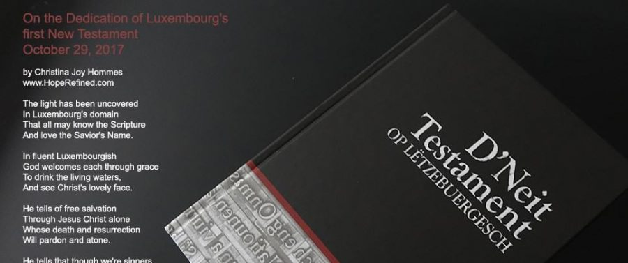 See the Luxembourgish New Testament!